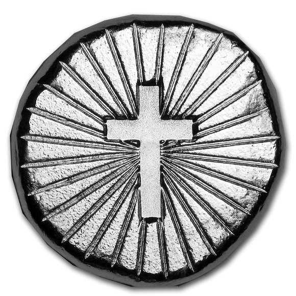 9Fine 1/2oz Silver Token- Cross