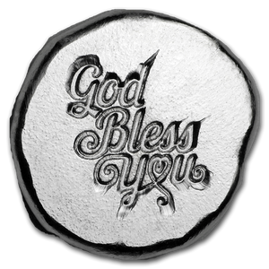 9Fine 1/2oz Silver Token- God Bless