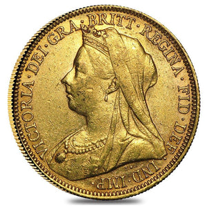 Gold Sovereign - Victoria - Old Head - 1893-1901