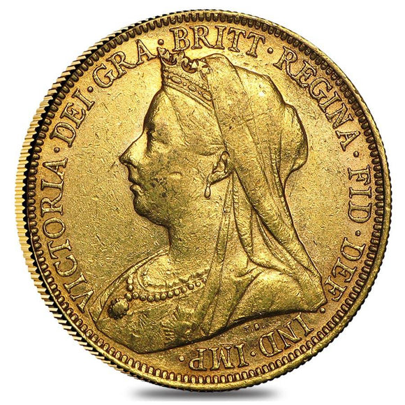 Gold Sovereign - Victoria - Old Head - 1890 London Mint
