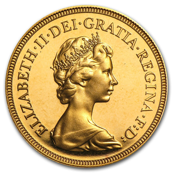 Gold Half Sovereign - Elizabeth II - Second (Decimal) Portrait - 1968-1984