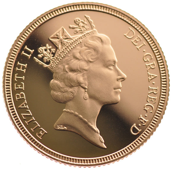Gold Sovereign - Elizabeth II - Third Portrait - 1985-1997