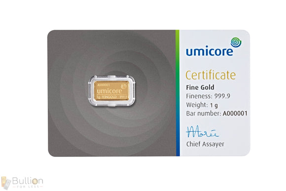 Umicore 1g Gold Bar