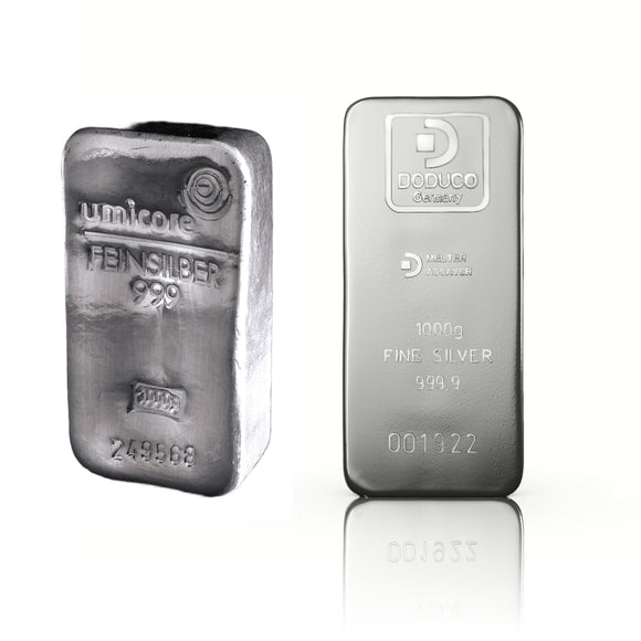 Best Value - 1000g (1kg) Silver Bar