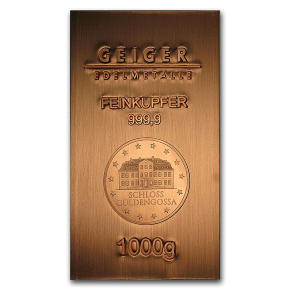 1kg Copper Mint Bullion Bar