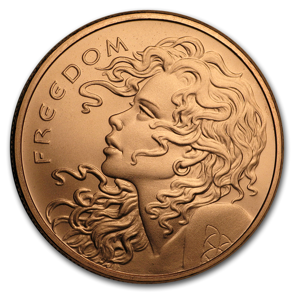 2019 1 oz Copper Shield Round - Freedom Girl
