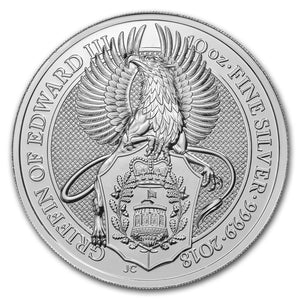2018 Queens Beasts - Griffin 10oz Silver Bullion Coin