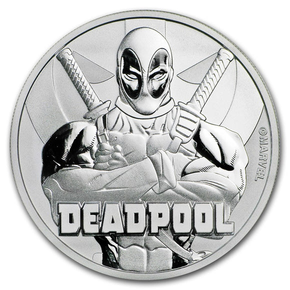 2018 Marvel Deadpool 1oz Silver Bullion Coin