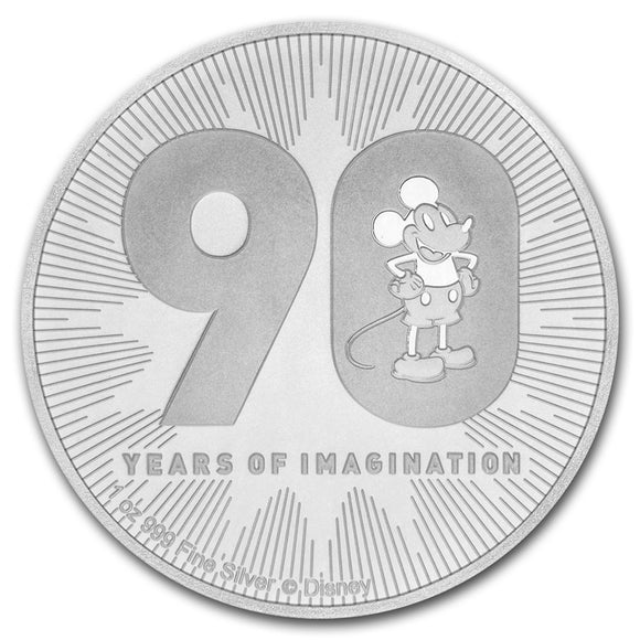 2018 Disney 90th Anniversary Edition 1oz Silver Bullion Coin