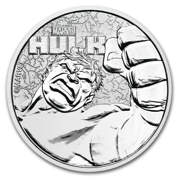 2019 Marvel Hulk 1oz Silver Bullion Coin