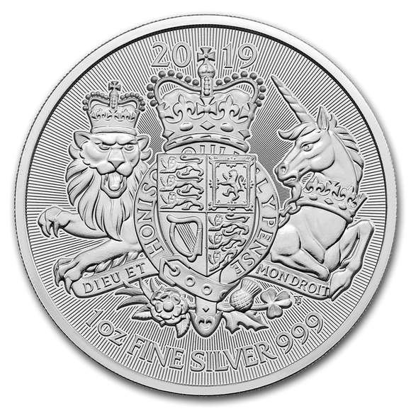 2019 The Royal Arms 1oz Silver Bullion Coin