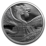 1oz World of Dragons - The Aztec Dragon Silver Bullion Coin