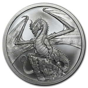 1oz World of Dragons - The Welsh Dragon Silver Bullion Coin