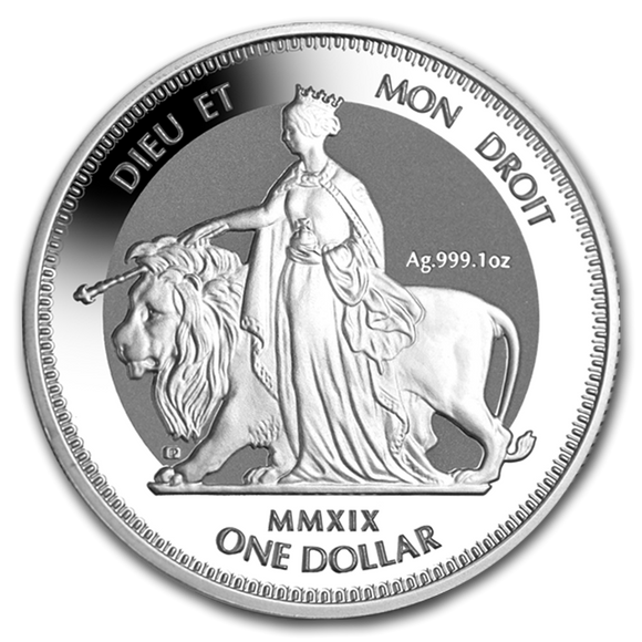 2019 Una & The Lion 1oz Silver Bullion Coin