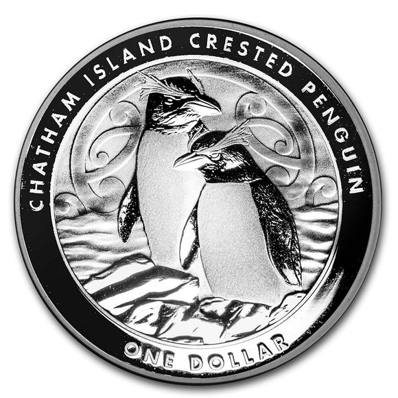 2020 New Zealand Crested Penguin 1oz Silver Bullion Coin
