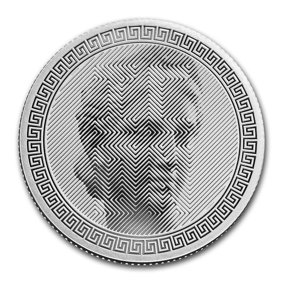 2020 Tokelau Icon Hiram Powers 1oz Silver Bullion Coin