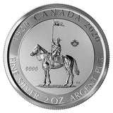 2020 Canadian Mounted Police 100th Anniversary 2oz Silver Bullion Coin