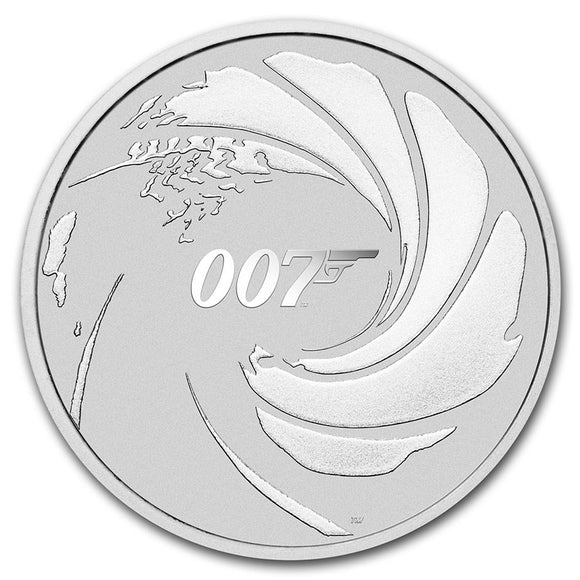 2020 Tuvalu 1 oz Silver James Bond 007
