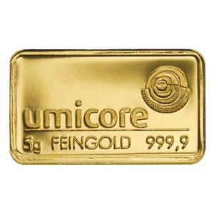 Umicore 5g Gold Bar