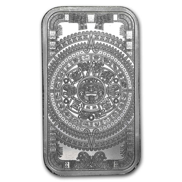 Aztec Calender  - 1oz Silver Bullion Bar