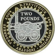 United Kingdom 2004 Silver Proof £2 200th Anniversary of the Steam Locomotive