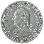 1976 1 Crown - Elizabeth II Bicentenary of American Independence