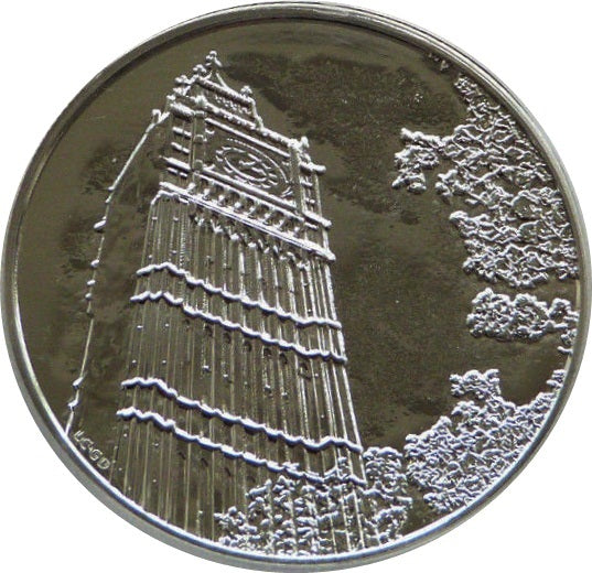 100 Pounds - Elizabeth II 2 oz Fine Silver Big Ben