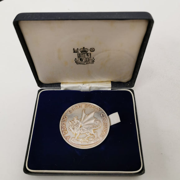 Investiture of H.R.H. Prince Charles Prince Of Wales 1969 Silver Medal 70g