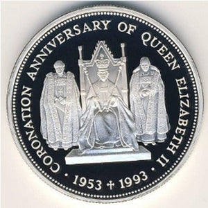 1993 2 Pounds 40th Anniversary of the Coronation of Elizabeth II Coin