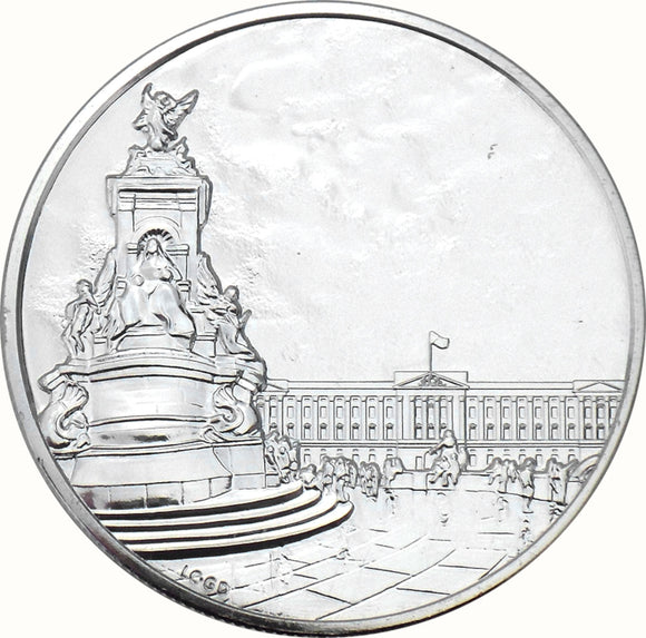 100 Pounds - Elizabeth II Buckingham Palace Fine Silver 2oz