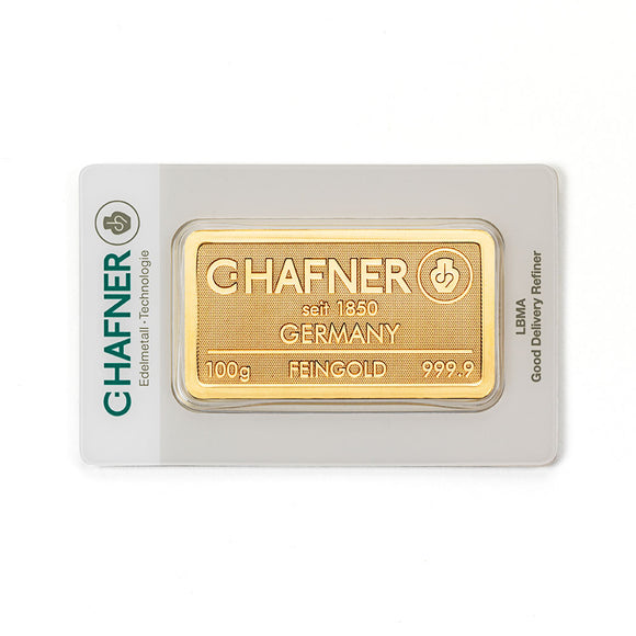 C-Hafner 100g Gold Bar