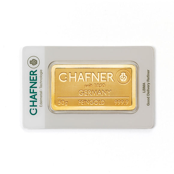 C-Hafner 50g Gold Bar