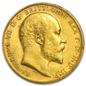 Gold Sovereign - Edward VII - 1902-1910