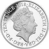 2018 10 Pence Elizabeth II U Union Flag Silver Proof