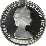 50 Pence - Elizabeth II Liberation Silver Proof Issue Falkland Islands