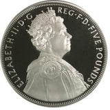 5 Pounds 2012 - Elizabeth II Diamond Jubilee Silver Proof