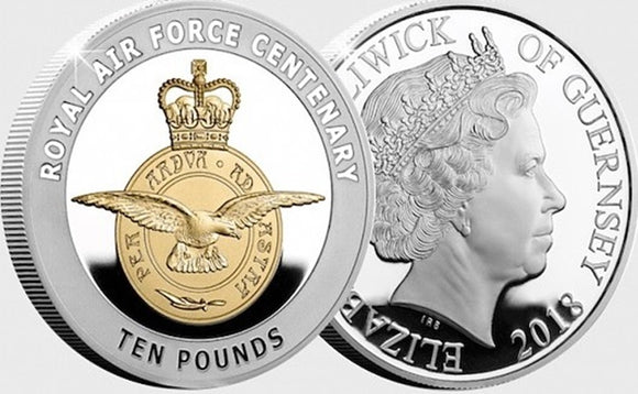 The RAF Centenary Badge Silver Proof 5oz Coin