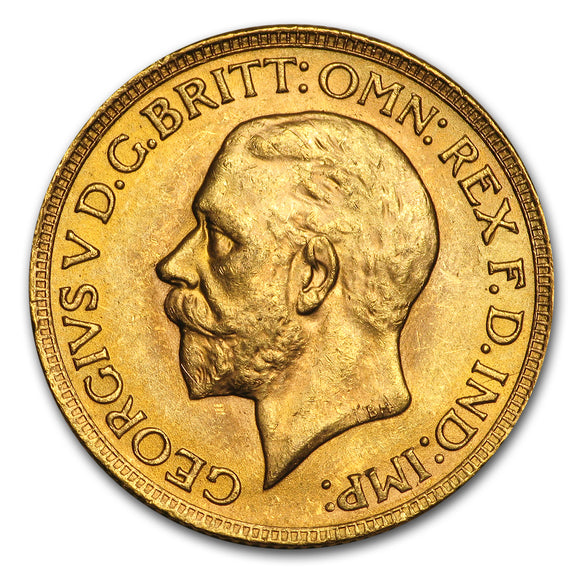 Gold Sovereign - George V - Small Head - 1929-1932