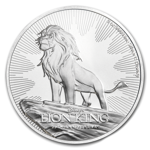 2019 Disney Lion King 25th Anniversary 1oz Silver Bullion Coin