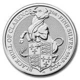 2018 Queens Beast - Black Bull of Clarence 2oz Silver Bullion Coin