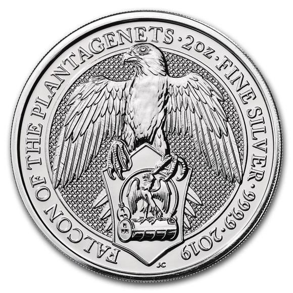 2019 Queens Beasts - Falcon of the Plantaganets 2oz Silver Bullion Coin