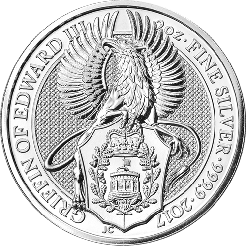 2017 Queens Beast - Griffin of Edward 2oz Silver Bullion Coin