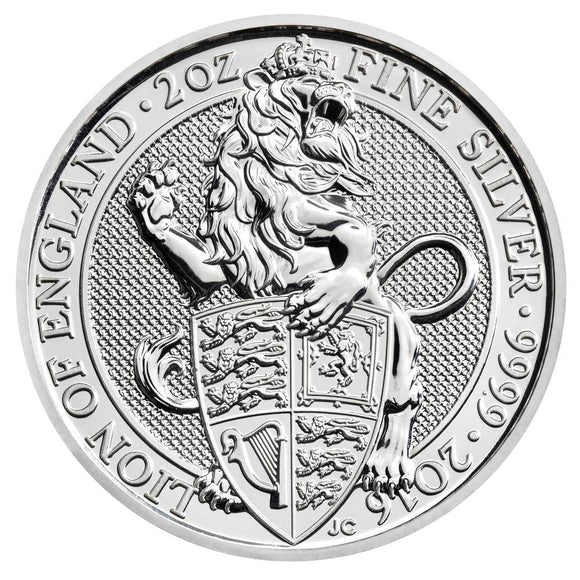 2016 Queens Beast - Lion of England 2oz Silver Bullion Coin