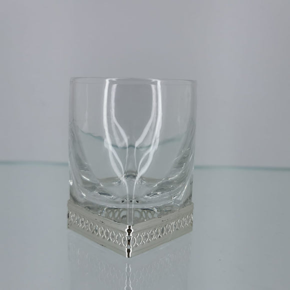Chinelli Shot Glasses Trellis Silver Design Set Of 6