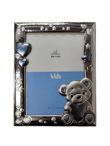 Chinelli Medium Blue Hearts and Stars Photo Frame 5x7 Inch Or 13x18cm