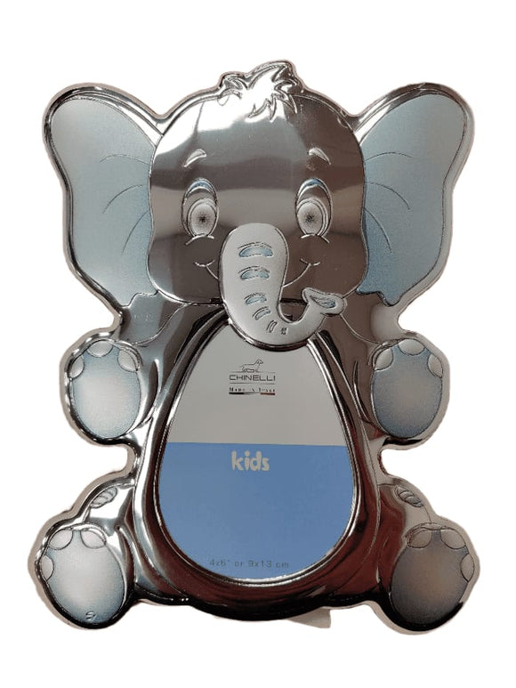 Chinelli Small Blue Elephant Shape Photo Frame 4x6 Inch Or 9x13cm