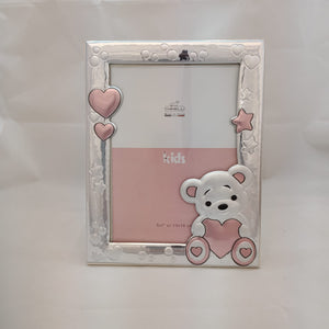 Chinelli Small Pink Hearts and Stars Photo Frame 4x6 Inch Or 9x13cm