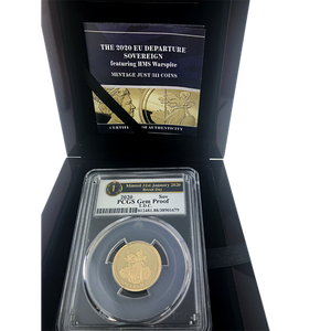 Pre-Owned 2020 EU Departure Brexit Day Full Sovereign Gold Coin - PCGS Graded Gem Proof