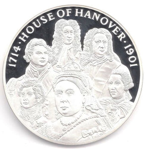 2014 Fine Silver Proof 5oz House Of Hanover £10 Coin