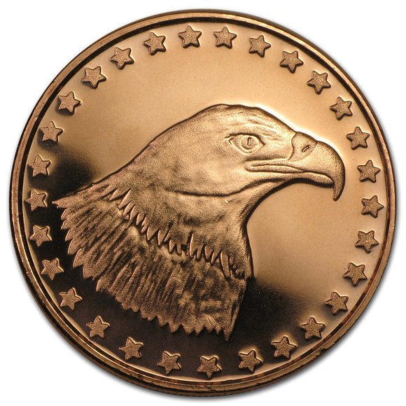 1 oz Copper Round - Eagle Head